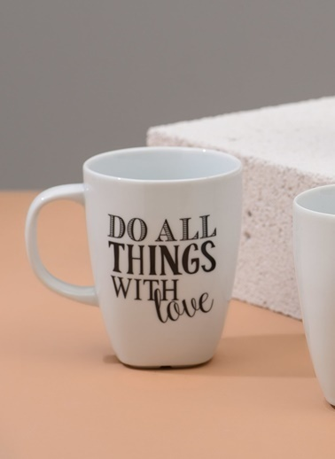 Morhipo Home Do All Things With Love - Çift Taraflı Kupa Beyaz